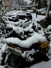 ....vom Schnee überrascht Mitte September 2015