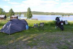 Camping mit Blick auf den See