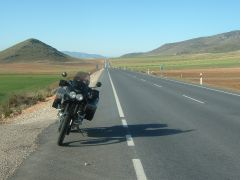 Landstraße in Spanien
