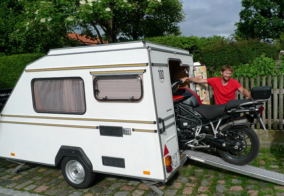 kip 300 motorrad transport wohnwagen benzingerede tigerhome