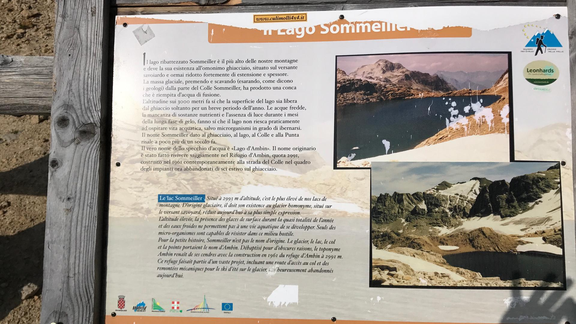 Höchster mit KfZ (legal) befahrbarer Punkt in Europa: Sommeiller Pass, 2.995 m